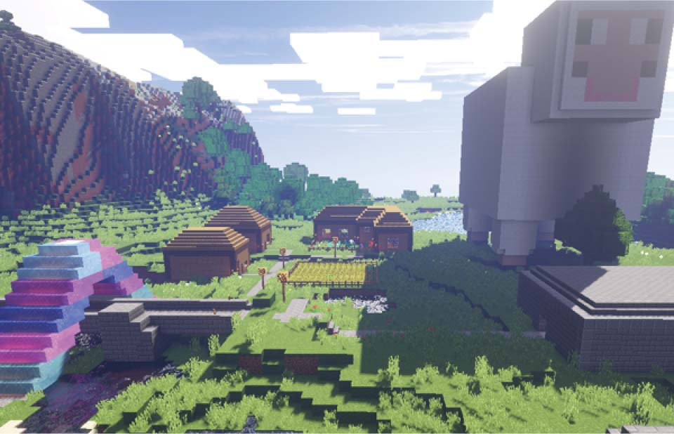 Minecraft coding teaches students how to create custom mods using the Java programming language.