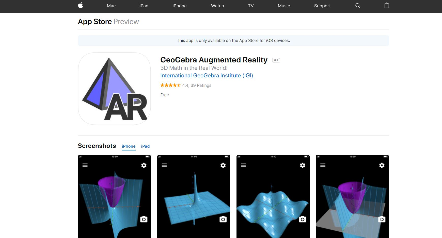 GeoGebra Augmented Reality CodaKid Top 21 Math Apps of 2019