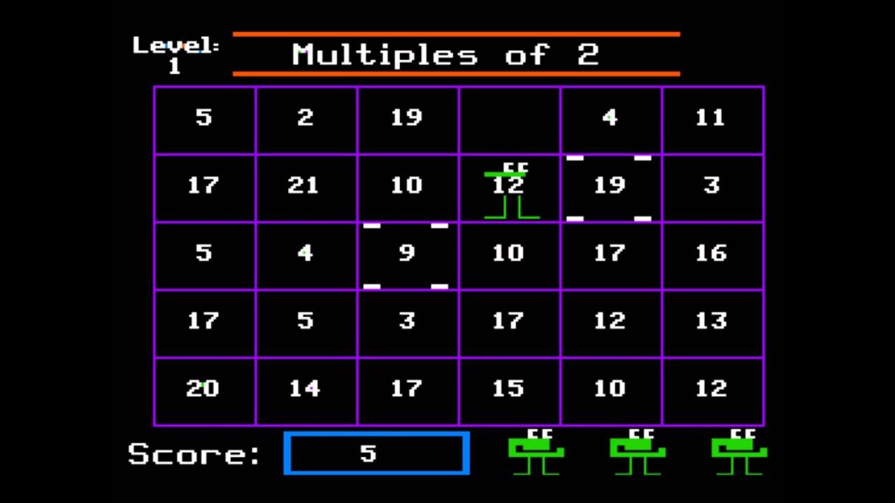 Number Munchers CodaKid Top Math Games