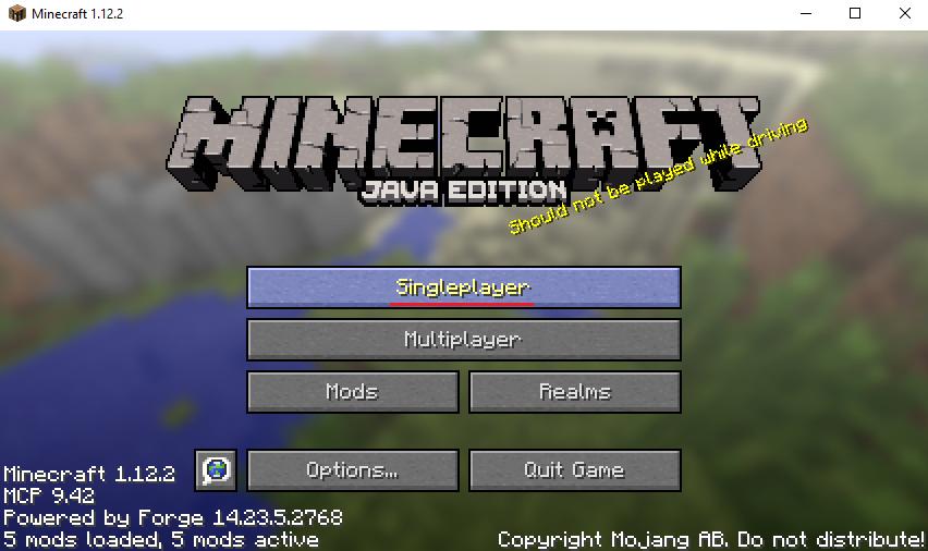 Minecraft modding with 1.12