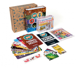 the deluxe bitsbox has fun add-ons to keep kids motivated