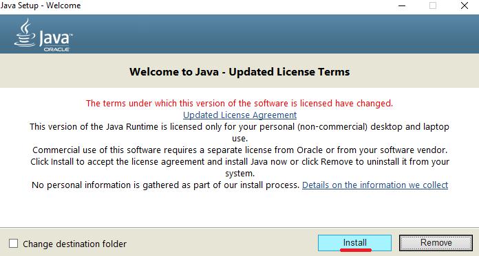 Cómo hacer un servidor de Minecraft - Instalación de Java