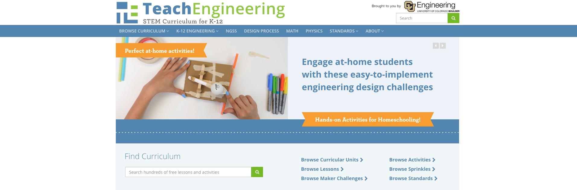 TeachEngineering Science Homeschool Curriculum