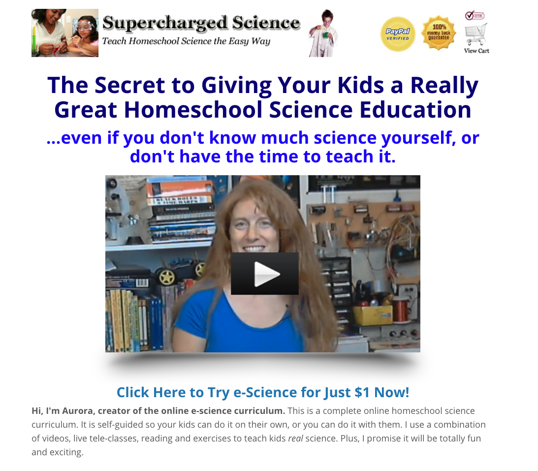 e-science Science Homeschool Curriculum